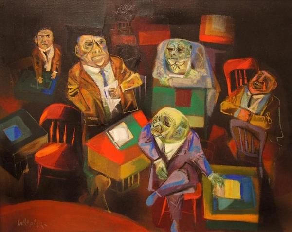 William Gropper, Senate Hearing, 1950. Oil on canvas. De Young Museum, San Francisco