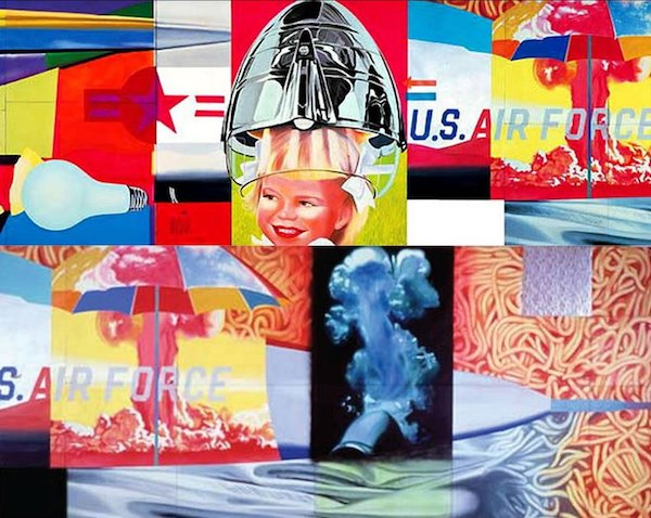 James Rosenquist, F-111 detail, 1964-5. Oil on canvas with aluminum, 23 sections © James Rosenquist. Museum of Modern Art, New York