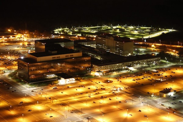 Aerial photograph of the Headquarters of the National Security Agency at Fort Meade, Maryland, by Trevor Paglen